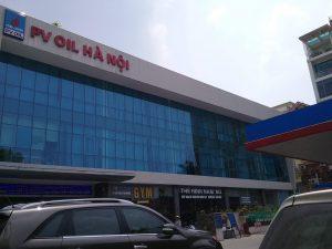 Vách kính mặt dựng – PV OIL Hà Nội