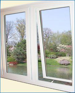 Cửa sổ mở quay – Cửa nhựa mẫu 1