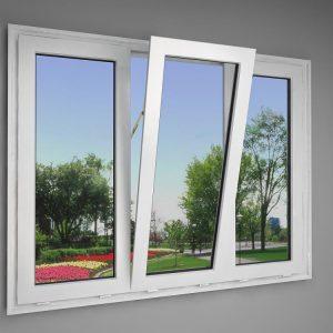 Cửa sổ mở quay – Cửa nhựa mẫu 2